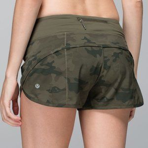 RARE Lululemon Run Speed Shorts Savasana Camo